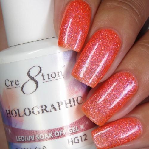 Cre8tion HOLOGRAPHIC SOAK OFF GEL .5 oz | HG12