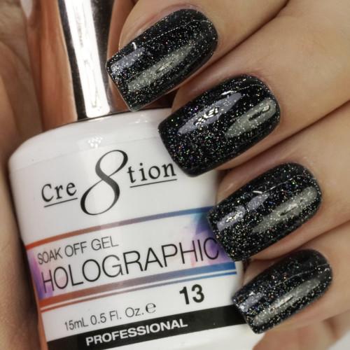 Cre8tion HOLOGRAPHIC SOAK OFF GEL .5 oz | HG13