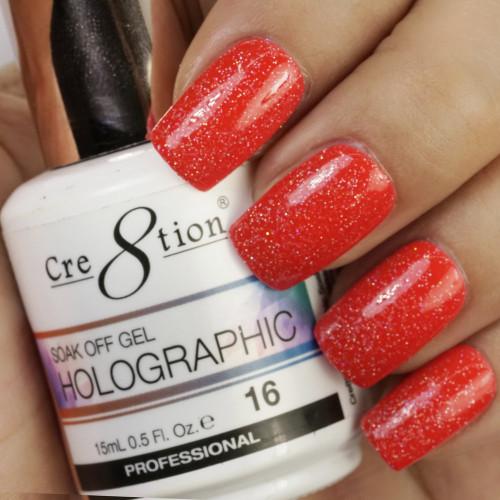 Cre8tion HOLOGRAPHIC SOAK OFF GEL .5 oz | HG16