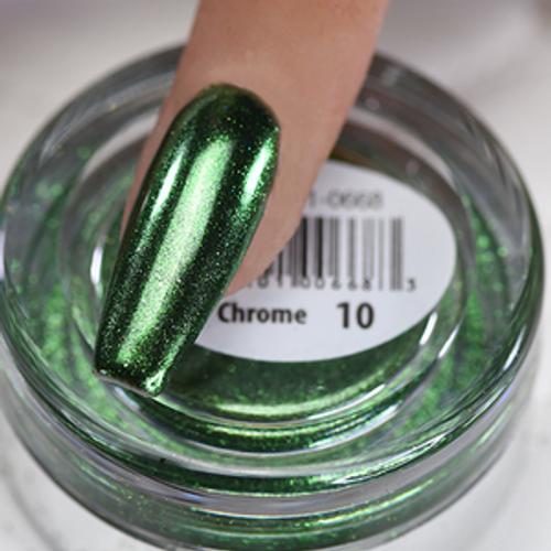 Cre8tion Chrome Nail Art Effect 1g | 10 Green Chrome