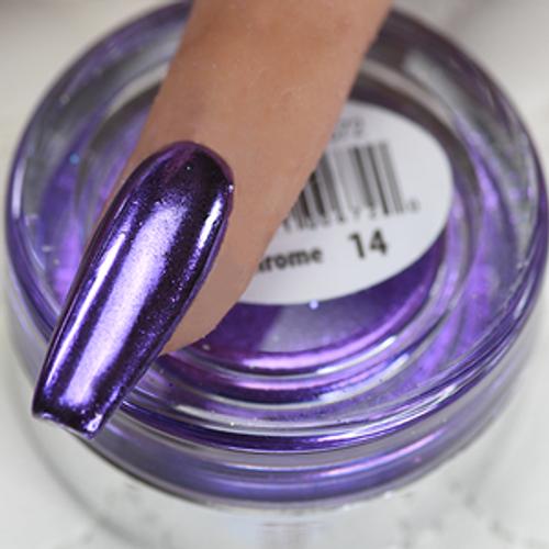 Cre8tion Chrome Nail Art Effect 1g | 14 Purple Chrome