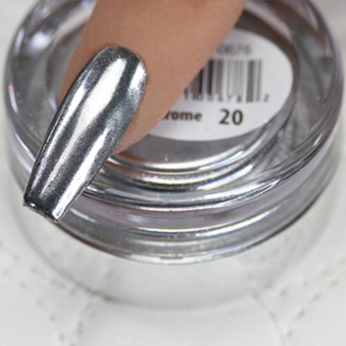 Cre8tion Chrome Nail Art Effect 1g | 20 Super Silver Chrome