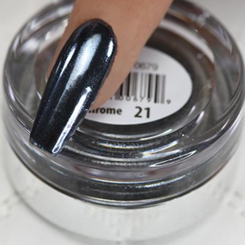 Cre8tion Chrome Nail Art Effect 1g | 21 Silver Black Chrome