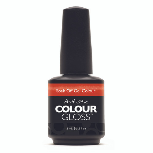 Artistic Colour Gloss - HAUTE COUT ORANGE 03087 - Soak Off Gel Nail Colour , 0.5 fl oz
