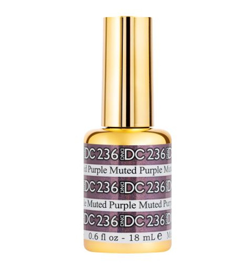 DND DC SOAK OFF GEL MERMAID | Muted-Purple 236