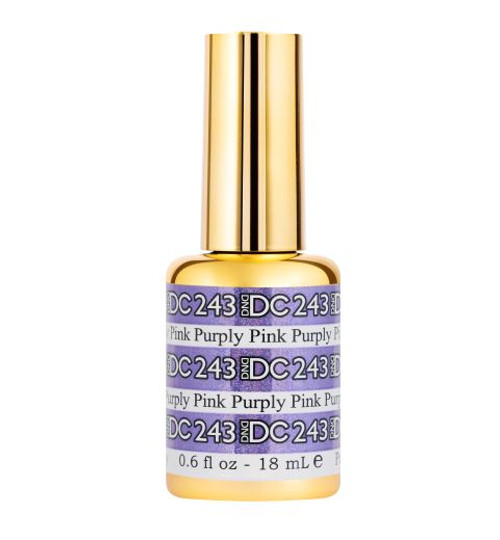 DND DC SOAK OFF GEL MERMAID | Purply Pink 243