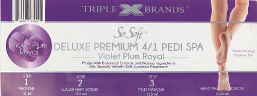 Triple XXX Brands | So Soft 4 in 1 Pedi Spa | VIOLET PLUM ROYAL (3 packs)