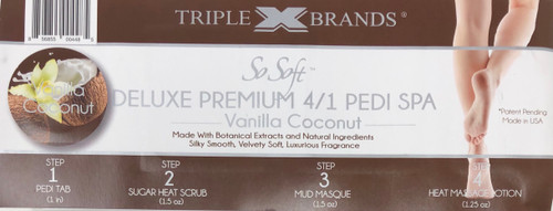 Triple XXX Brands | So Soft 4 in 1 Pedi Spa | VANILLA COCONUT (3 packs)