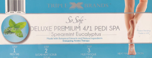 Triple XXX Brands | So Soft 4 in 1 Pedi Spa | EUCALYPTUS SPEARMINT (3 packs)