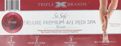 Triple XXX Brands | So Soft 4 in 1 Pedi Spa | ROSE (3 packs)
