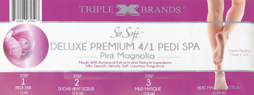 Triple XXX Brands | So Soft 4 in 1 Pedi Spa | PINK MAGNOLIA (3 packs)
