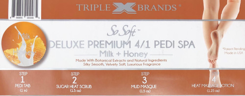 Triple XXX Brands | So Soft 4 in 1 Pedi Spa | MILK HONEY (3 packs)