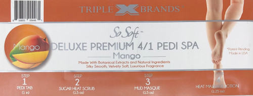Triple XXX Brands | So Soft 4 in 1 Pedi Spa | MANGO (3 packs)