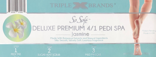 Triple XXX Brands | So Soft 4 in 1 Pedi Spa | JASMINE (3 packs)