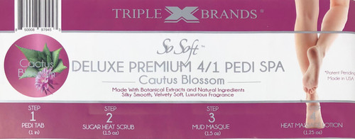 Triple XXX Brands | So Soft 4 in 1 Pedi Spa | CACTUS BLOSSOM (3 packs)