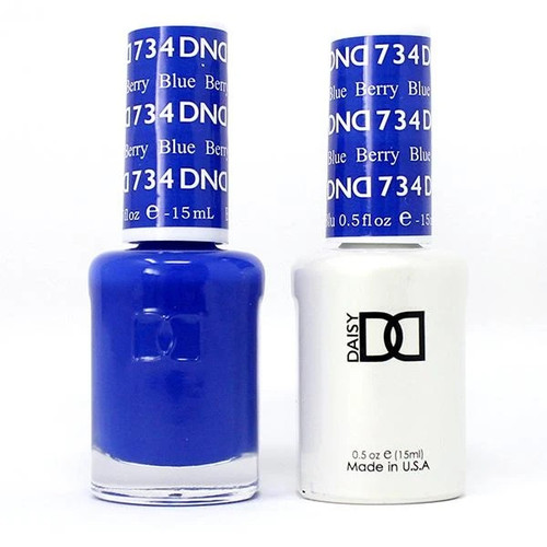 DND SOAK OFF GEL POLISH DUO | COLLECTION 2020 | Berry Blue, 734