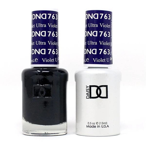 DND SOAK OFF GEL POLISH DUO | WINTER COLLECTION 2020 | Ultra Violet, 763