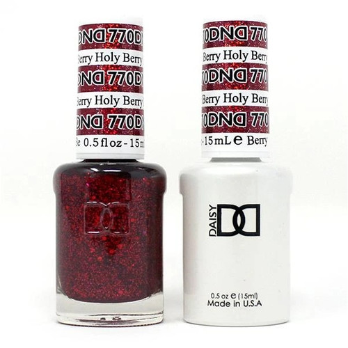 DND SOAK OFF GEL POLISH DUO | WINTER COLLECTION 2020 | Holy Berry, 770