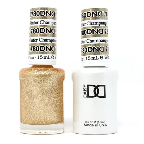 DND SOAK OFF GEL POLISH DUO | WINTER COLLECTION 2020 | Champagne Winter, 780