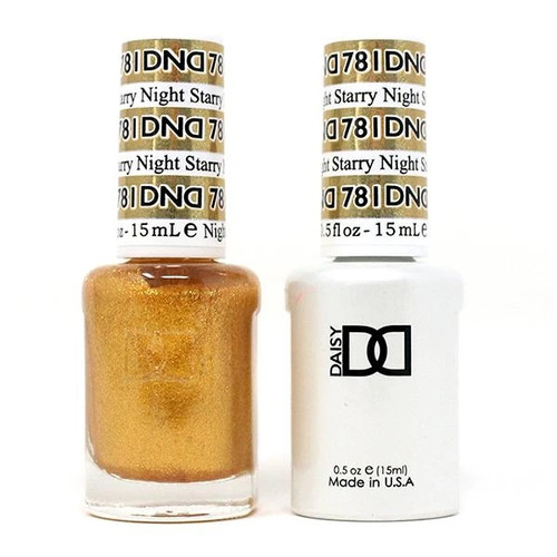 DND SOAK OFF GEL POLISH DUO | WINTER COLLECTION 2020 | Starry Night, 781