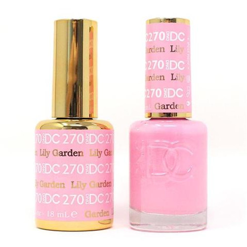 DND DC DUO SOAK OFF GEL AND LACQUER | Collection 2020 | 270 Lily Garden