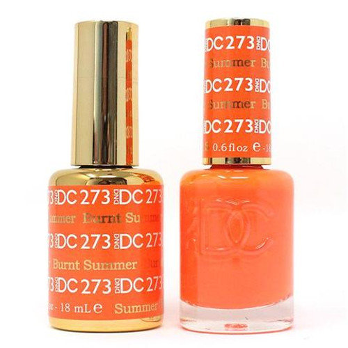 DND DC DUO SOAK OFF GEL AND LACQUER | Collection 2020 | 273 Burnt Summer