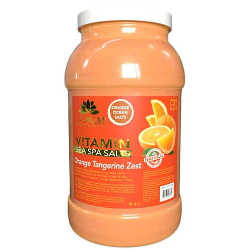 La Palm Sea Spa Salt 1 gallon - Orange Tangerine Zest