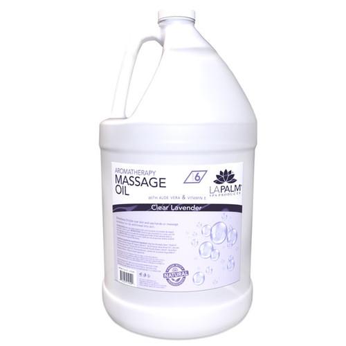 La Palm Massage Oil 1 gallon - Clear Lavender