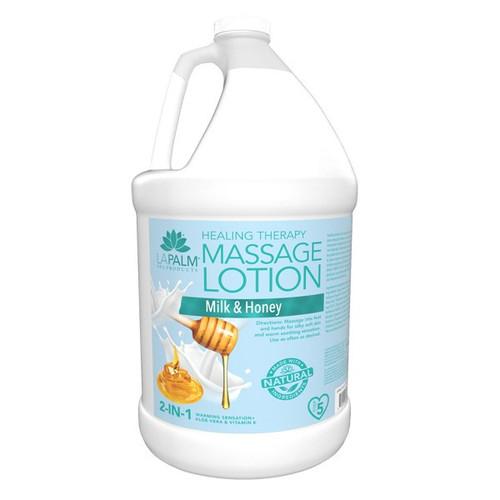 Organic Healing Therapy Massage Lotion   1 Gal   Milk & Honey