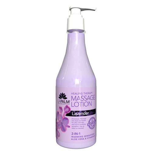 Organic Healing Therapy Massage Lotion | 8oz | Lavender