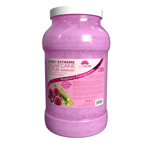 La Palm Sugar Scrub Extreme 1 gallon - Raspberry Pomegrante