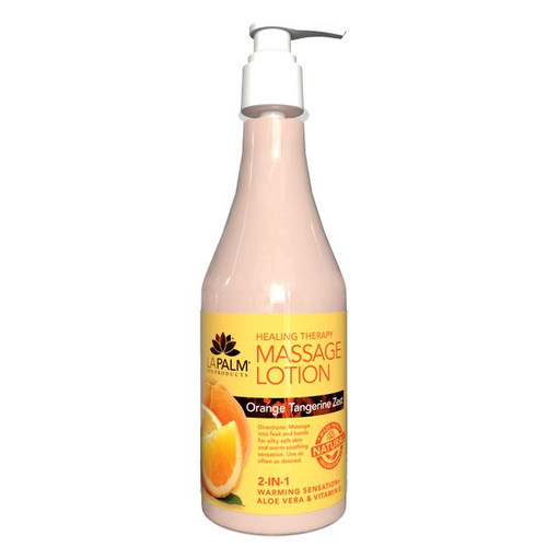 Healing Therapy Massage Lotion | 8oz | Orange Tangerine Zest