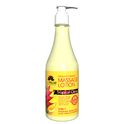 Healing Therapy Massage Lotion | 8oz | Tropical Citrus