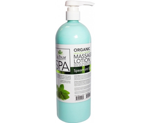 Organic Healing Therapy Massage Lotion | 32oz | Spearmint Eucalyptus