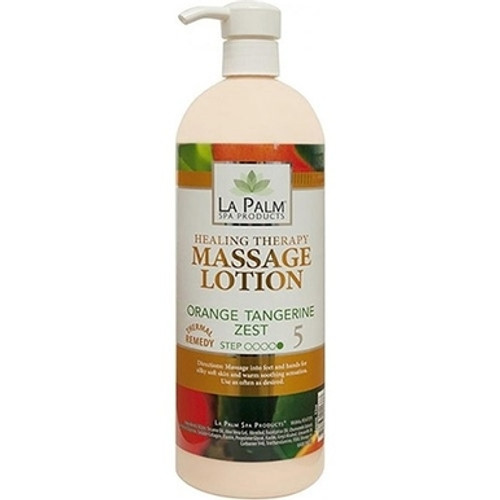Organic Healing Therapy Massage Lotion | 32oz | Orange Tangerine Zest
