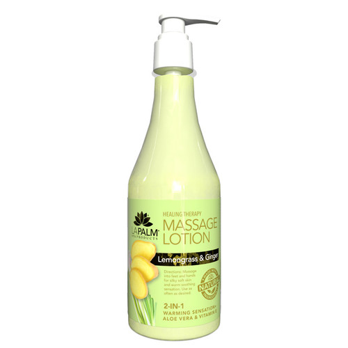 Healing Therapy Massage Lotion | 8oz | Lemongrass & Ginger
