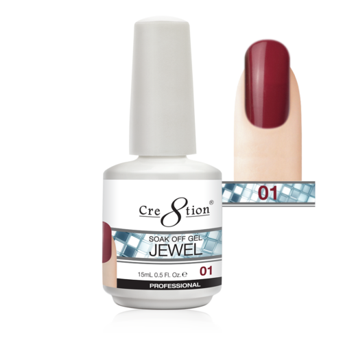 Cre8tion Jewel Collection | Soak off gel 0.5 oz | 01