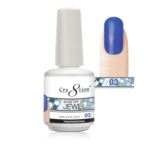 Cre8tion Jewel Collection | Soak off gel 0.5 oz | 03