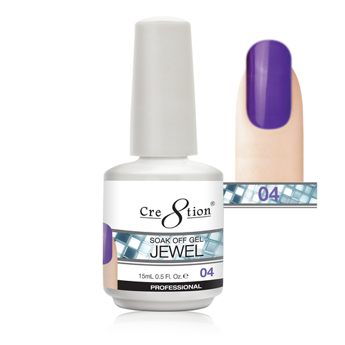 Cre8tion Jewel Collection | Soak off gel 0.5 oz | 04