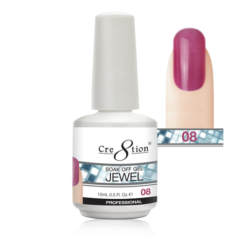 Cre8tion Jewel Collection | Soak off gel 0.5 oz | 08