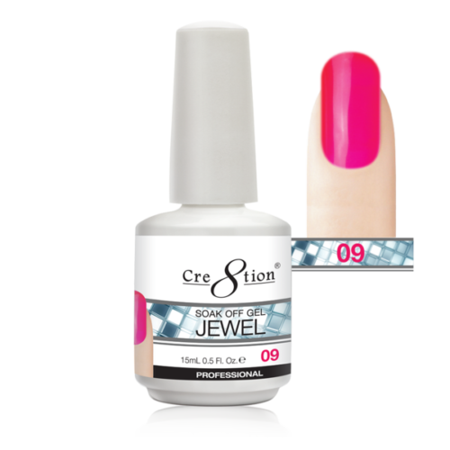 Cre8tion Jewel Collection | Soak off gel 0.5 oz | 09