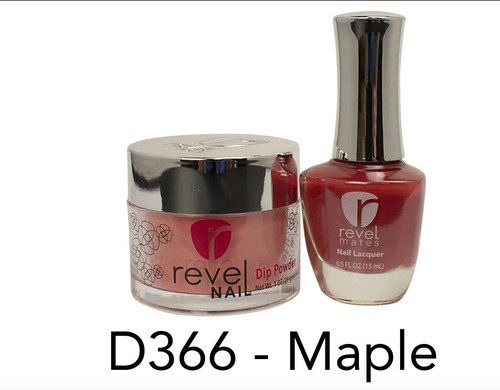 Revel Mates Matching Dip Powder 2 oz & Polish 0.5oz | D366 Maple