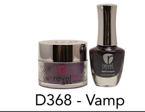Revel Mates Matching Dip Powder 2 oz & Polish 0.5oz   D368 Vamp