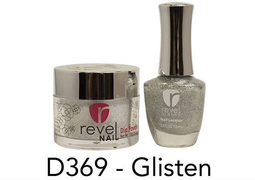 Revel Mates Matching Dip Powder 2 oz & Polish 0.5oz | D369 Glisten