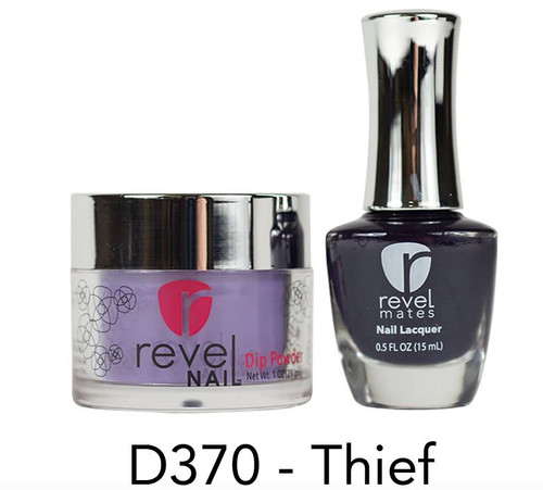 Revel Mates Matching Dip Powder 2 oz & Polish 0.5oz | D370 Thief