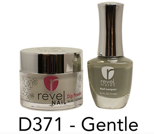 Revel Mates Matching Dip Powder 2 oz & Polish 0.5oz | D371 Gentle