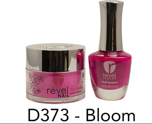 Revel Mates Matching Dip Powder 2 oz & Polish 0.5oz | D373 Bloom