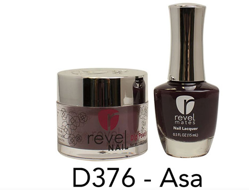 Revel Mates Matching Dip Powder 2 oz & Polish 0.5oz | D376 Asa