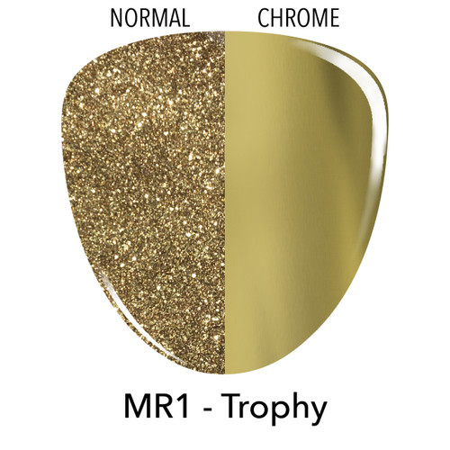 Revel Dip Powder | Mirror Chrome Collection | MR1 Trophy | 2 oz