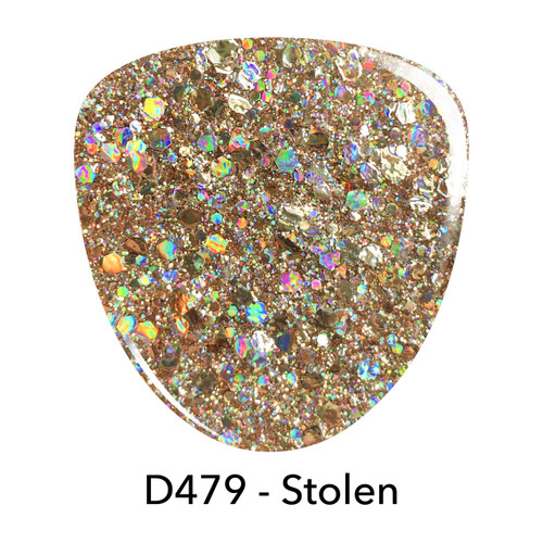 Revel Dip Powder | REVEL Glitter Fest Collection | D479 STOLEN | 2 oz